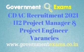 CDAC Noida Project Engineer Manager Recruitment 2021